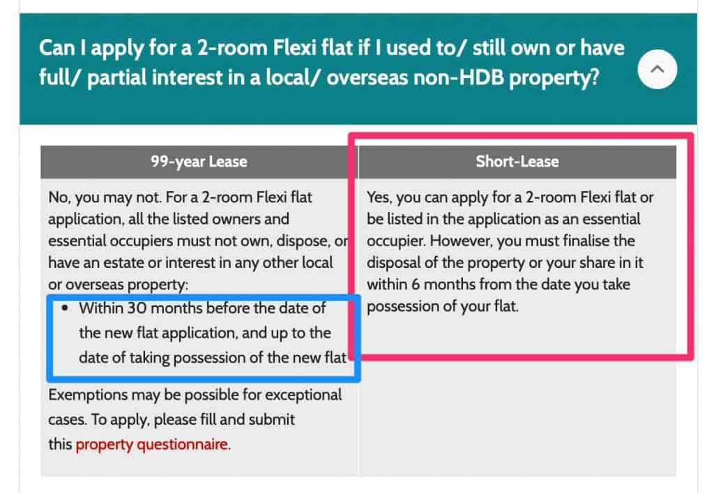 You can buy a BTO for 2 room flex even if you have just sold your private property