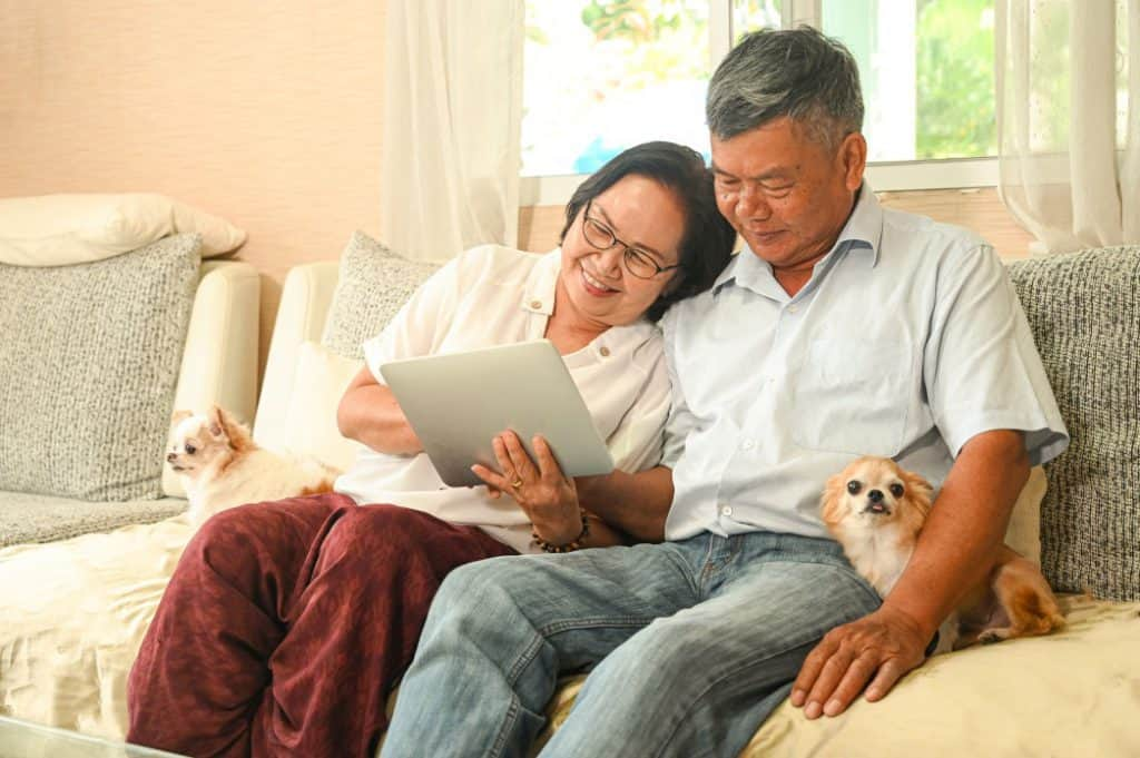 Elderly couple buying HDB after selling private property